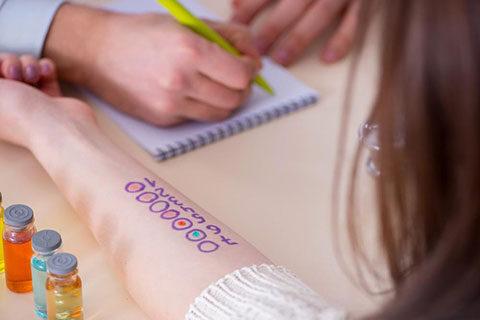 Извършване на кожно-алергично тестуване в Медицински център Гея Мед